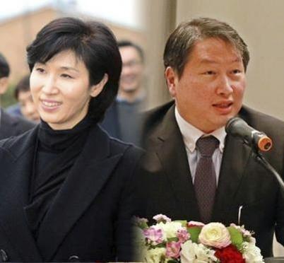 노소영 아트센터 나비 관장(왼쪽)과 최태원 SK회장/조선DB